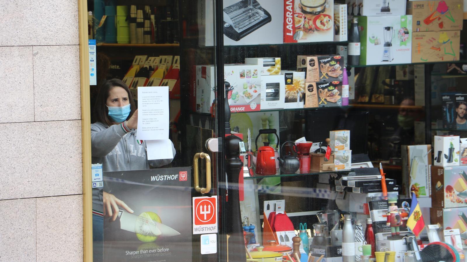 Un local d'Escaldes-Engordany preparant la seva obertura. / A.M. (ANA)