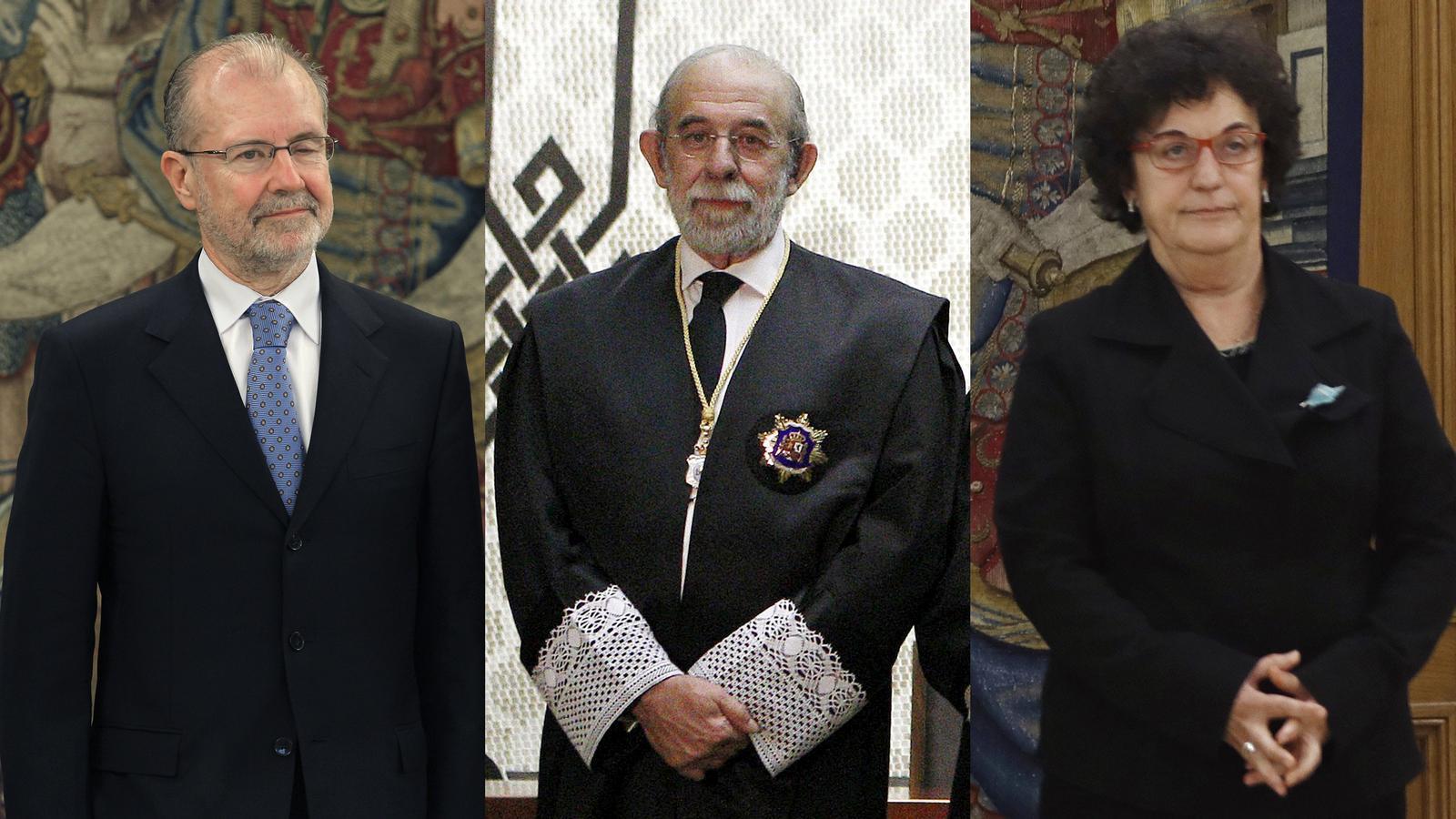 Els tres jutges que han esquerdat la unitat del Tribunal Constitucional