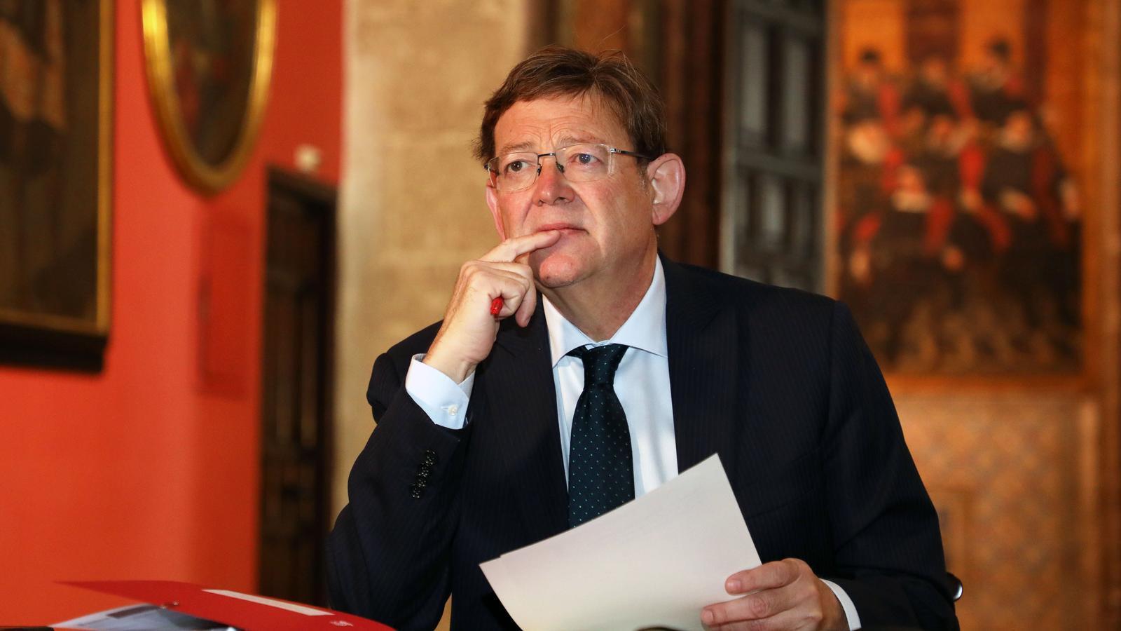 El cap del Consell, Ximo Puig, durant la conferència de presidents autonòmics celebrada aquest dilluns