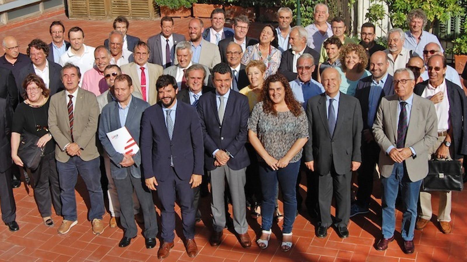 Gerard Esteva i altres representants de la UFEC