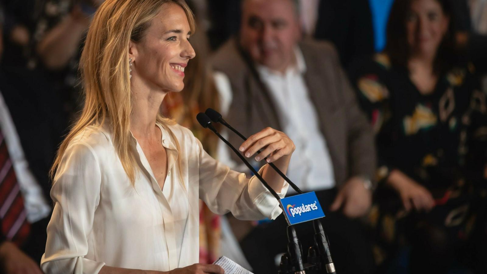 La candidata del PP per Barcelona al 28-A, Cayetana Álvarez de Toledo, en un acte aquest cap de setmana