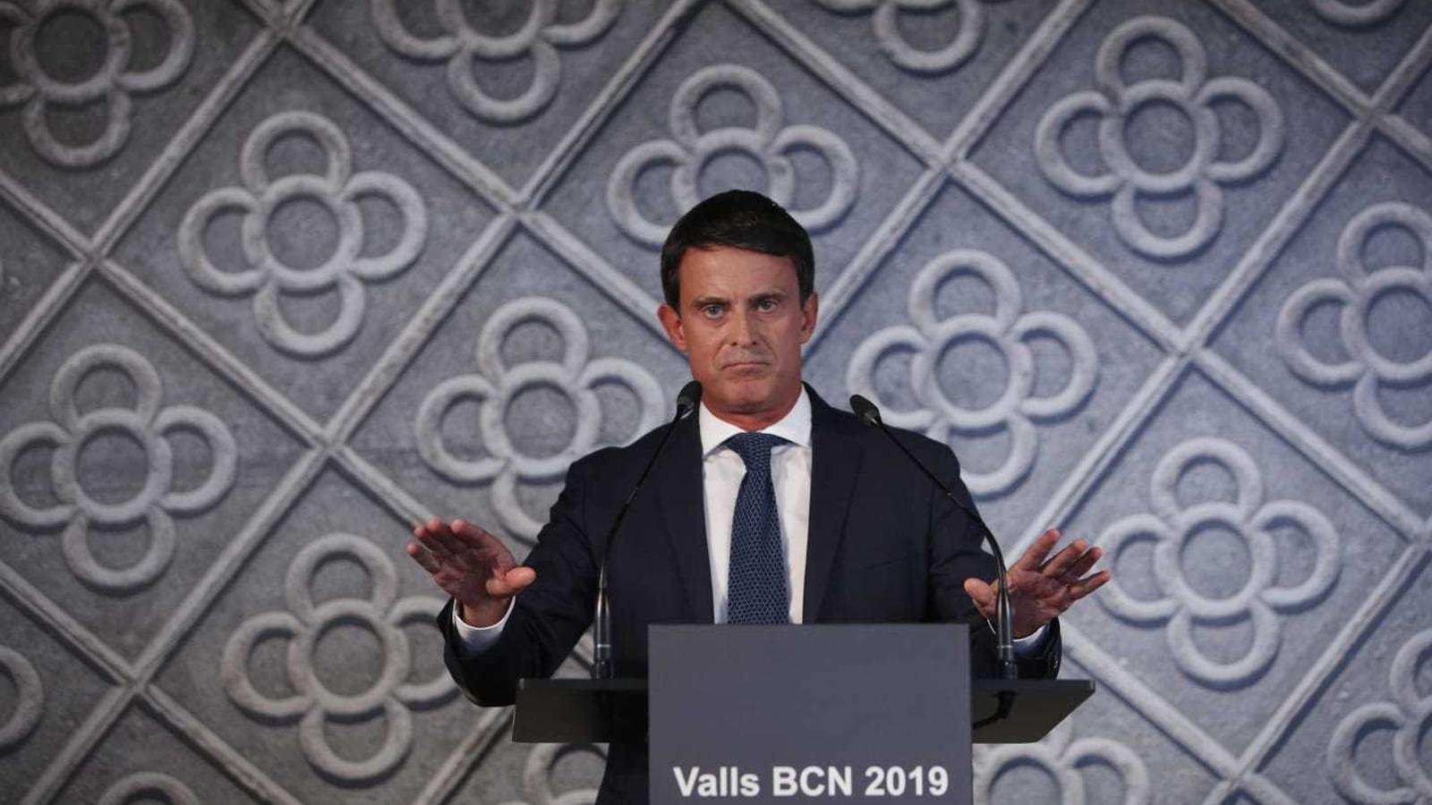L'ex-primer ministre francès Manuel Valls, en una conferència al CCCB presentant la seva candidatura a les municipals de 2019