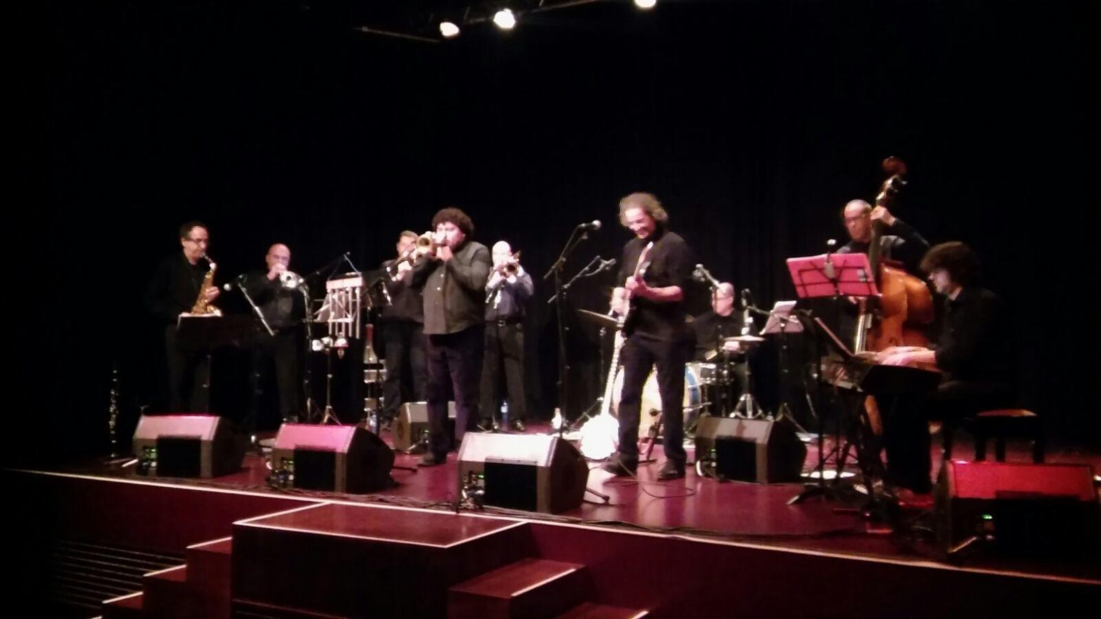 S'Arrual Jazz Mort en un moment de la seva actuació aquest dimarts passat a Santa Margalida.