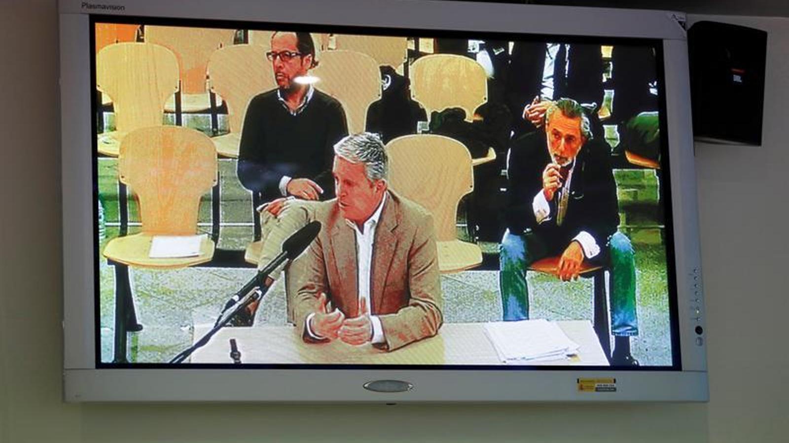 L'empresari Pablo Crespo, durant la declaració a l'Audiència Nacional