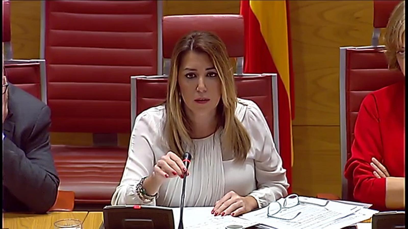 """Susana Díaz s'enfada amb el senador del PP després de dir-li que té una """"gràcia especial"""""""