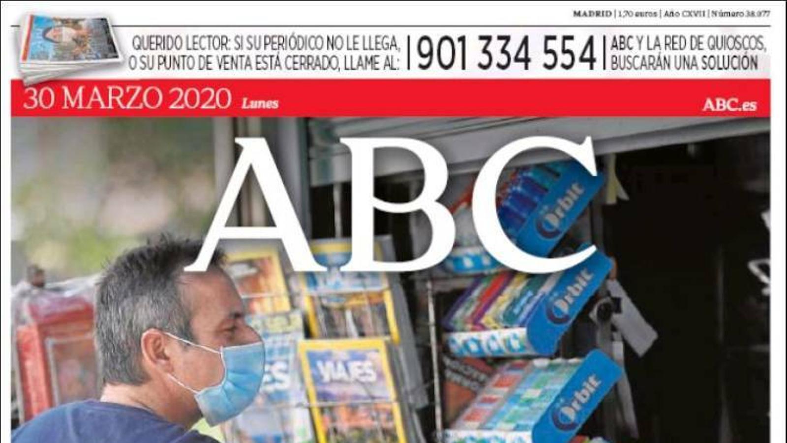 portada abc 30/3/20