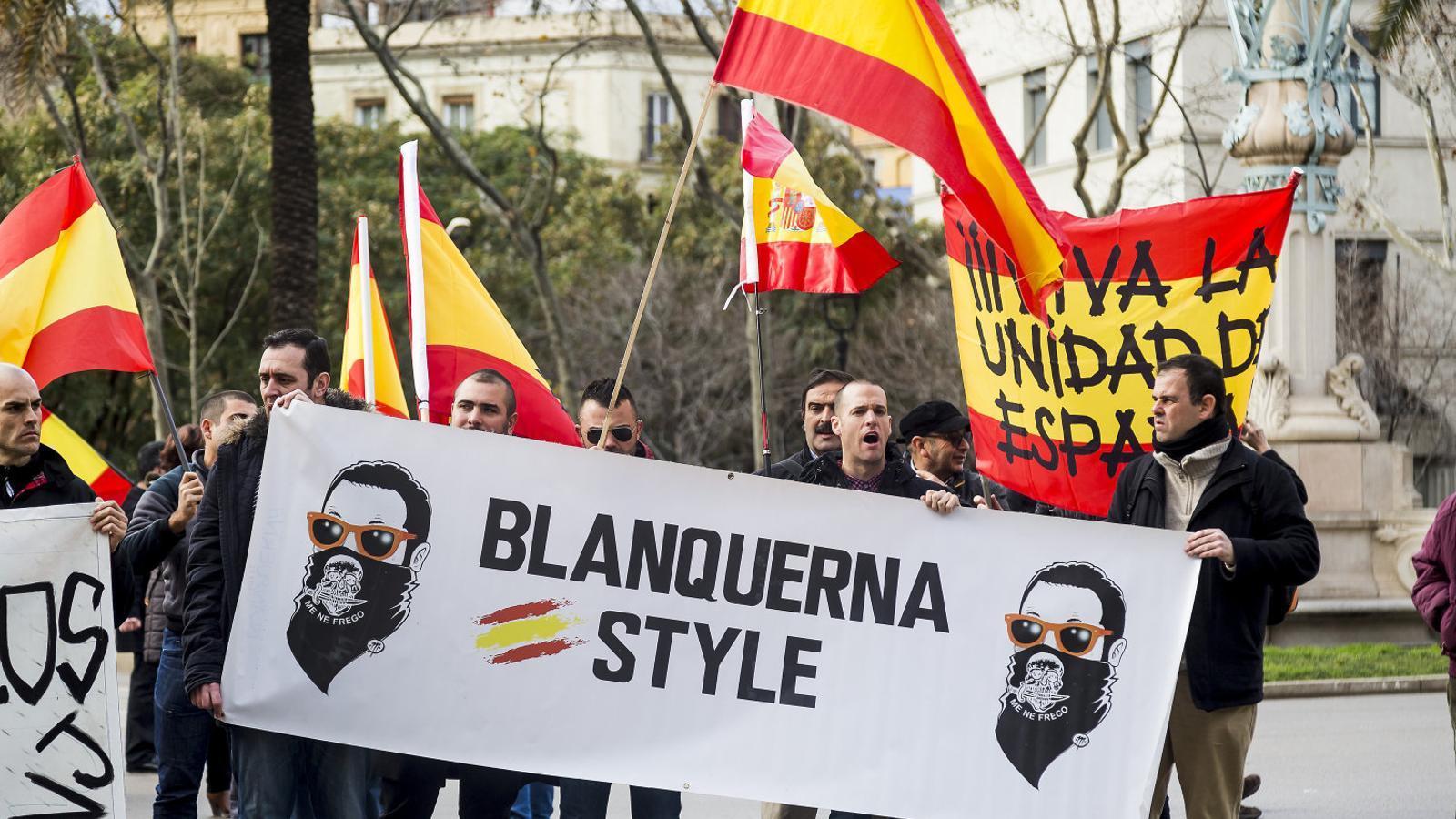 Manifestació a Barcelona de suport als condemnats per l'atac al Blanquerna.