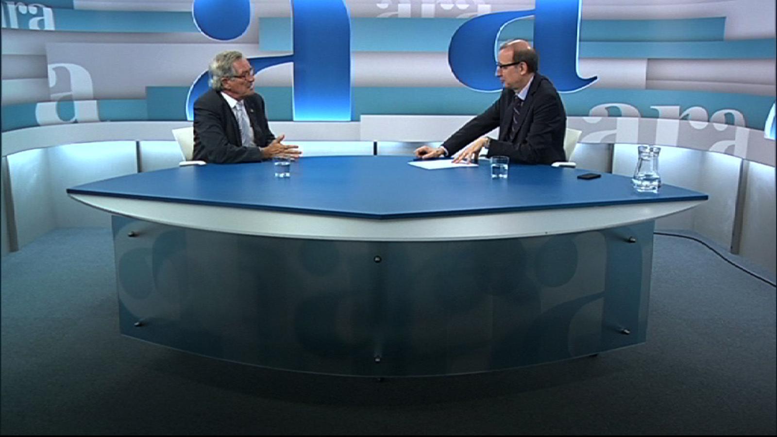 Entrevista d'Antoni Bassas a Xavier Trias, per 'Ara TV Premium'