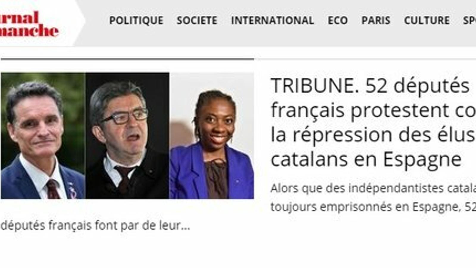 """52 diputats francesos reclamen la fi de la """"repressió"""" i les """"mesures arbitràries"""" contra els independentistes"""