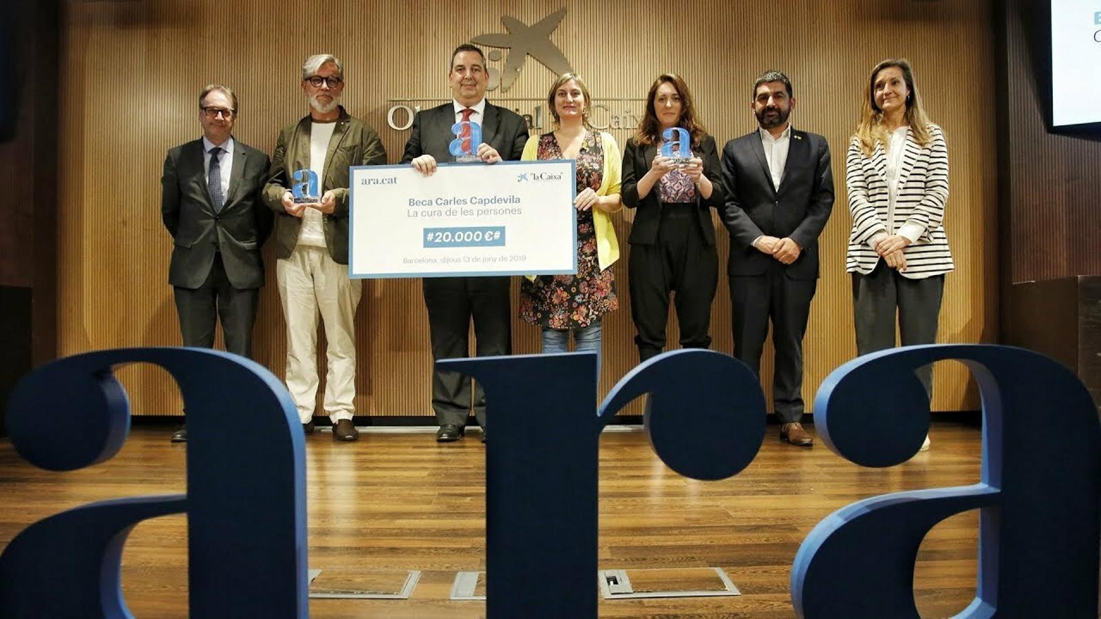 L'Hospital Sagrat Cor i la parròquia Santa Anna guanyen la segona beca Carles Capdevila