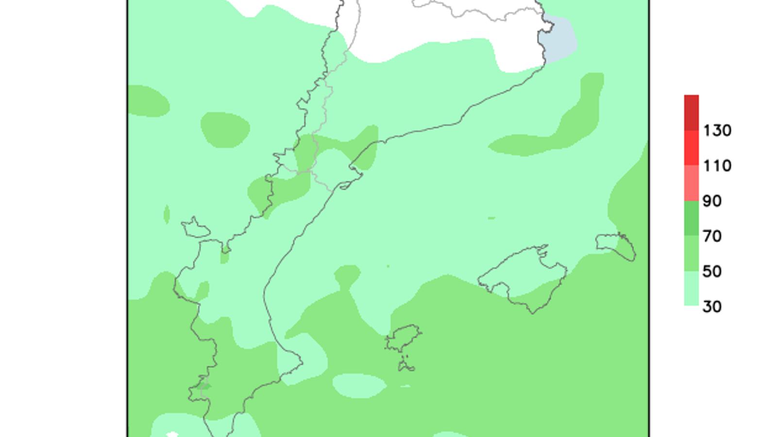 Alerta groga a les Balears per vent fort