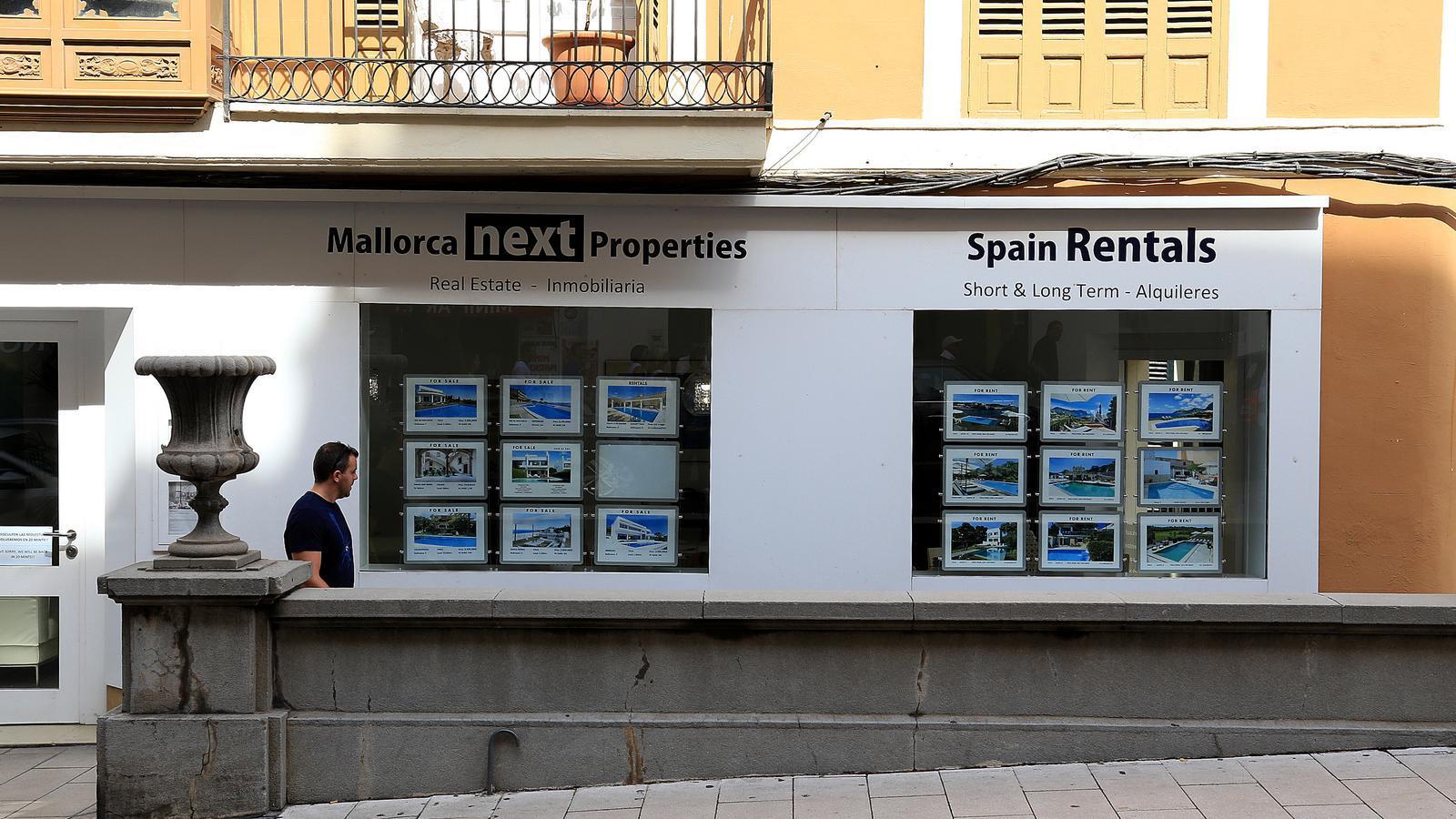 Una immobiliària al centre de Palma