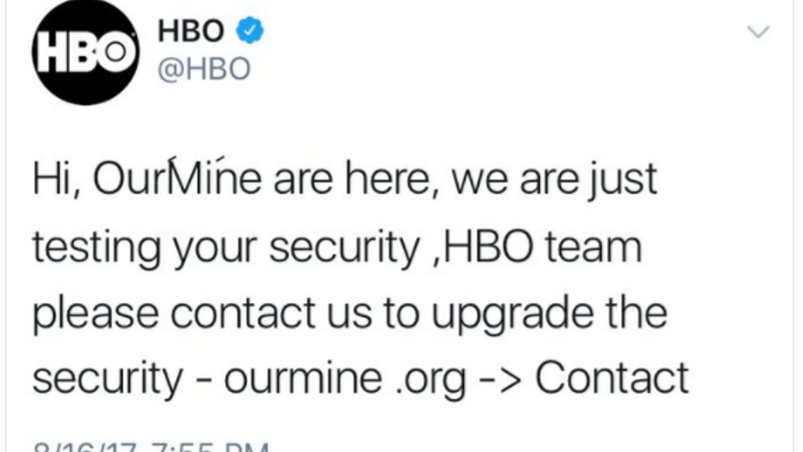 'Hackegen' els comptes de Twitter i Facebook de la HBO