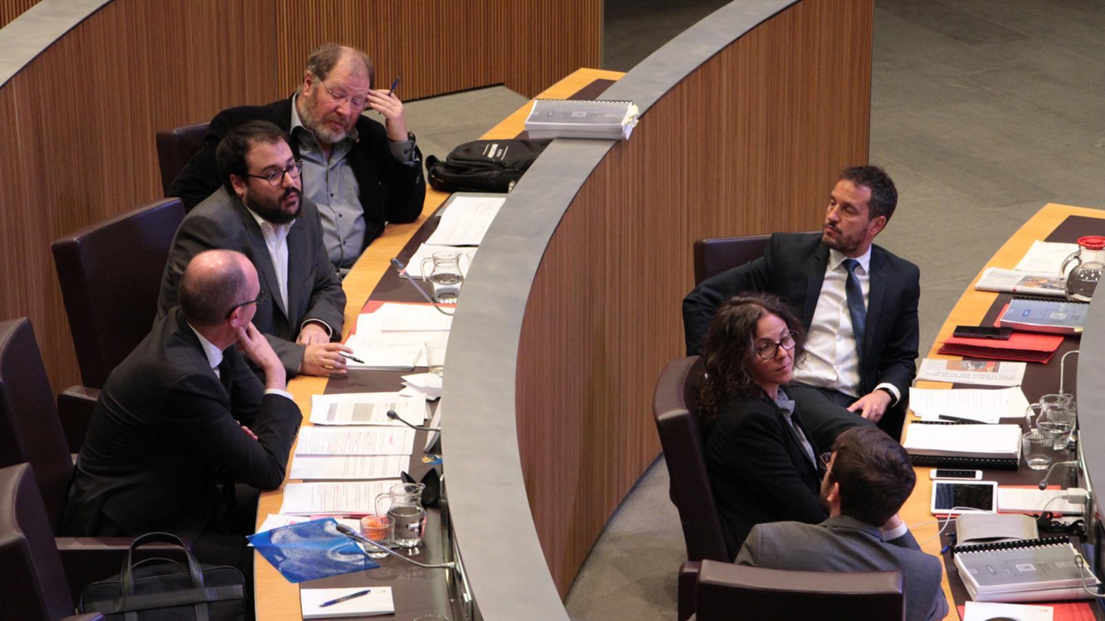 Els consellers generals del PS durant el debat de les reserves d'esmena celebrat aquest dijous. / M. P. (ANA)