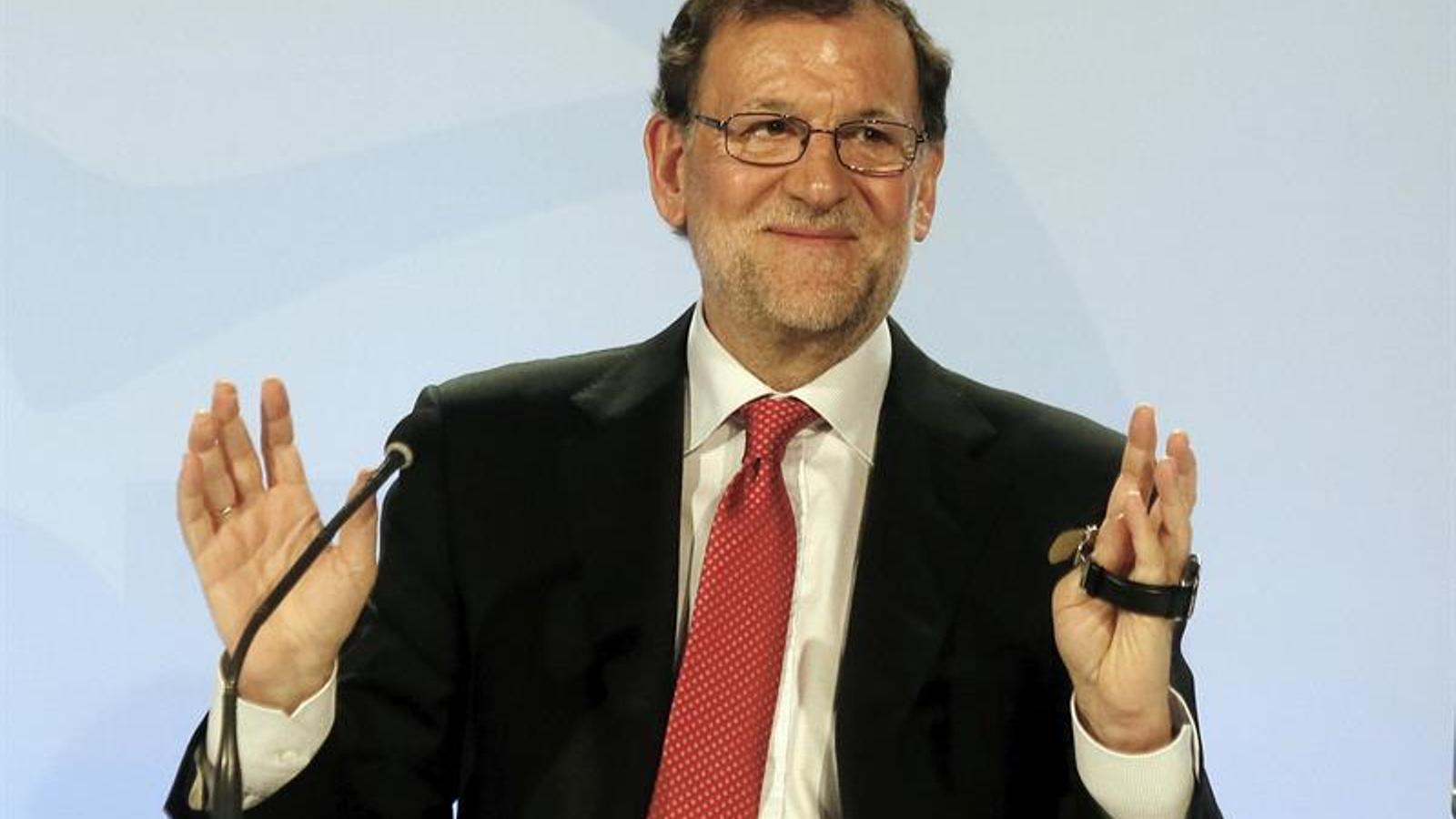El president del govern espanyol en funcions, Mariano Rajoy, ha clausurat aquest dimecres un acte del PP a Alacant. EFE