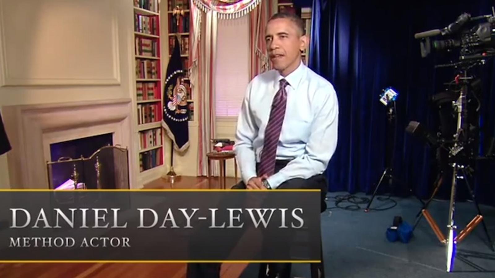 Obama interpreta Daniel Day-Lewis interpretant Obama