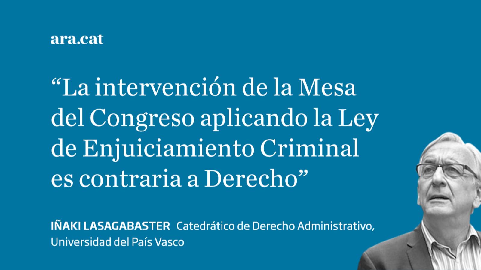 El Congreso no puede suspender los derechos de los parlamentarios catalanes