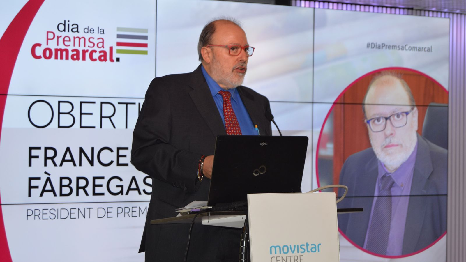 El president de l'Associació Catalana de Premsa Comarcal, Francesc Fàbregas