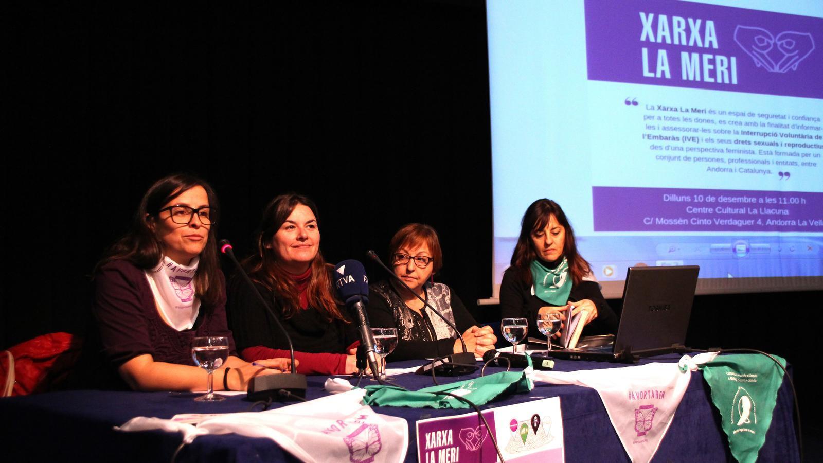 Un moment de la presentació de la Xarxa La Meri. / M. F.