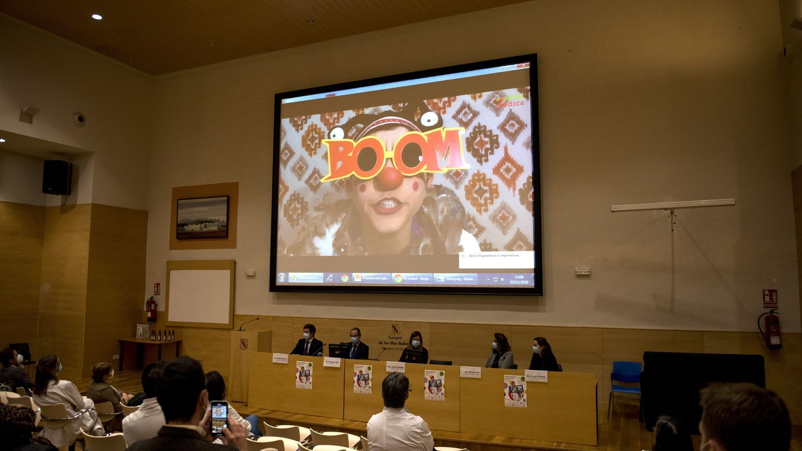 La presentació del projecte s'ha fet al saló d'actes de Son Llàtzer.