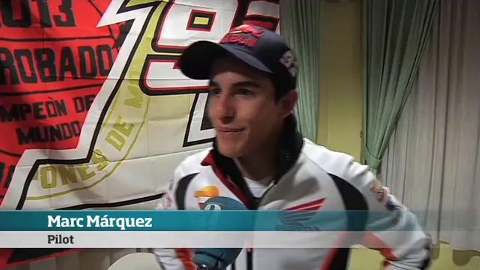Marc Márquez: El proper any espero cometre menys errors, encara haig de millorar