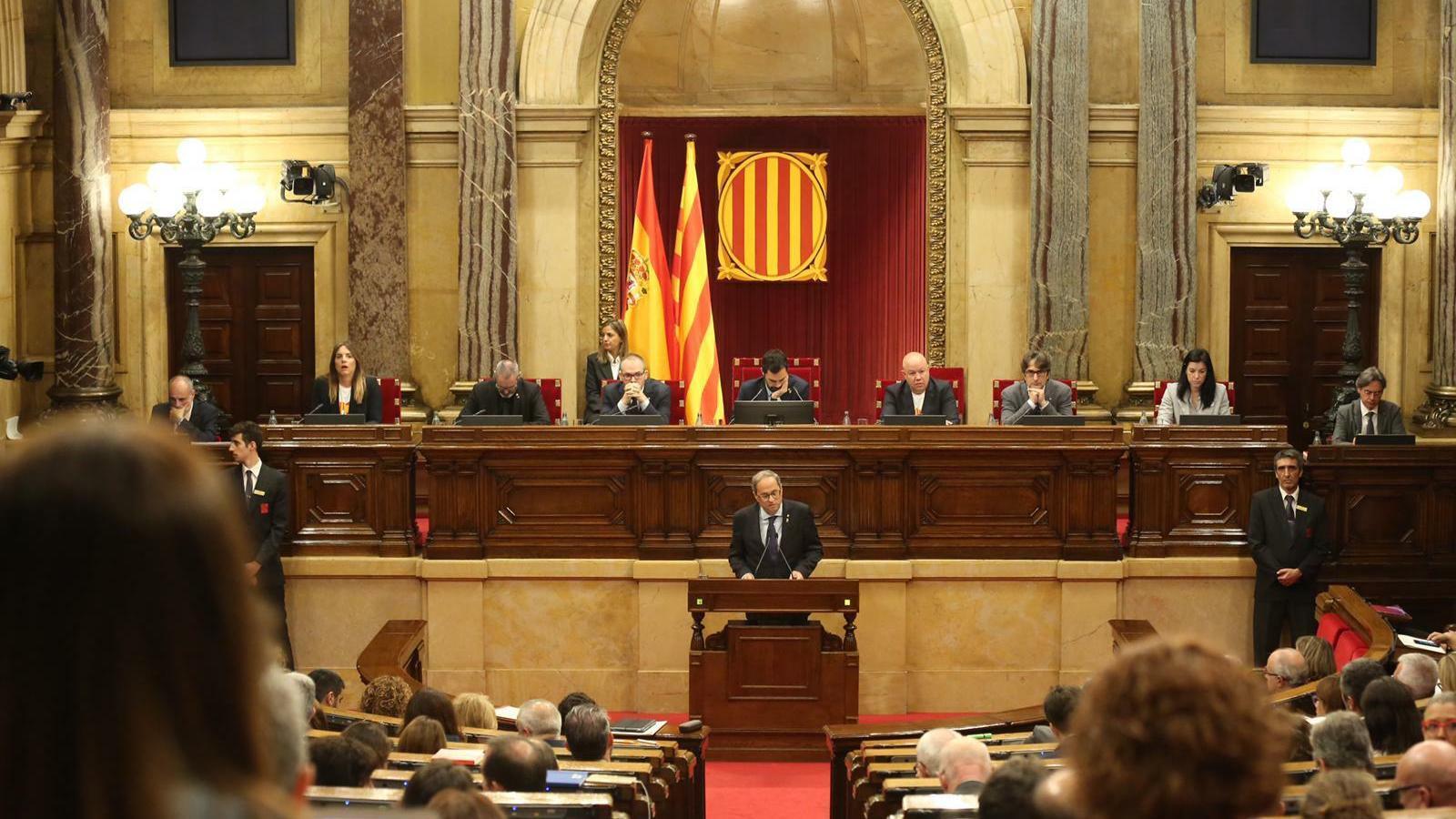 El president de la Generalitat, Quim Torra, al Parlament de Catalunya