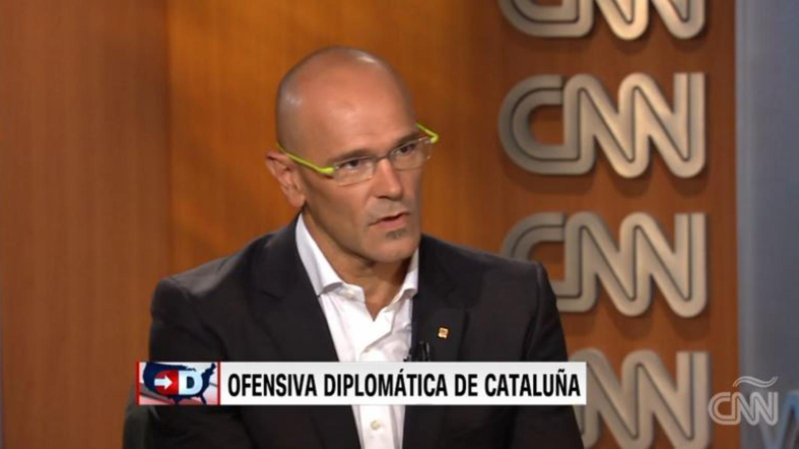 Entrevista de l'edició espanyola de la CNN al conseller Romeva