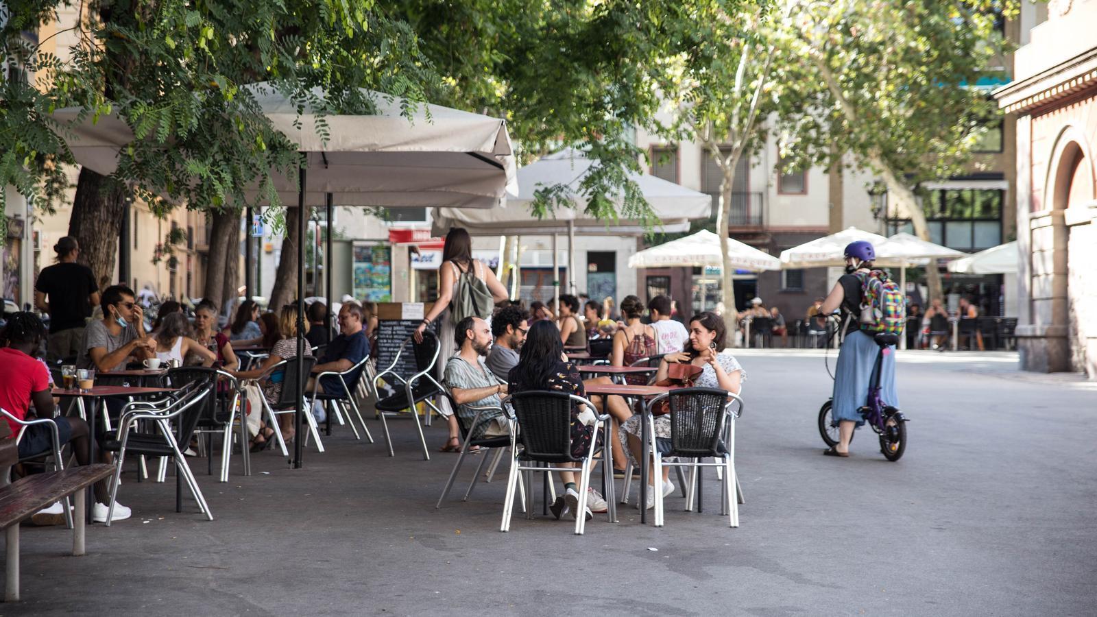 Terrasses a la Plaça de la Vila de Gràcia
