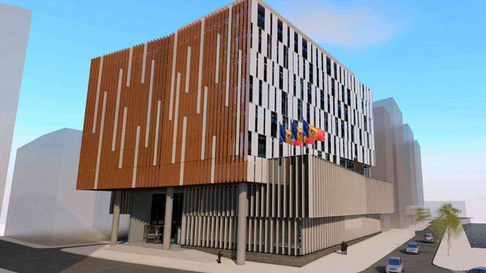 Imatge en tres dimensions de la nova Seu de la Justícia