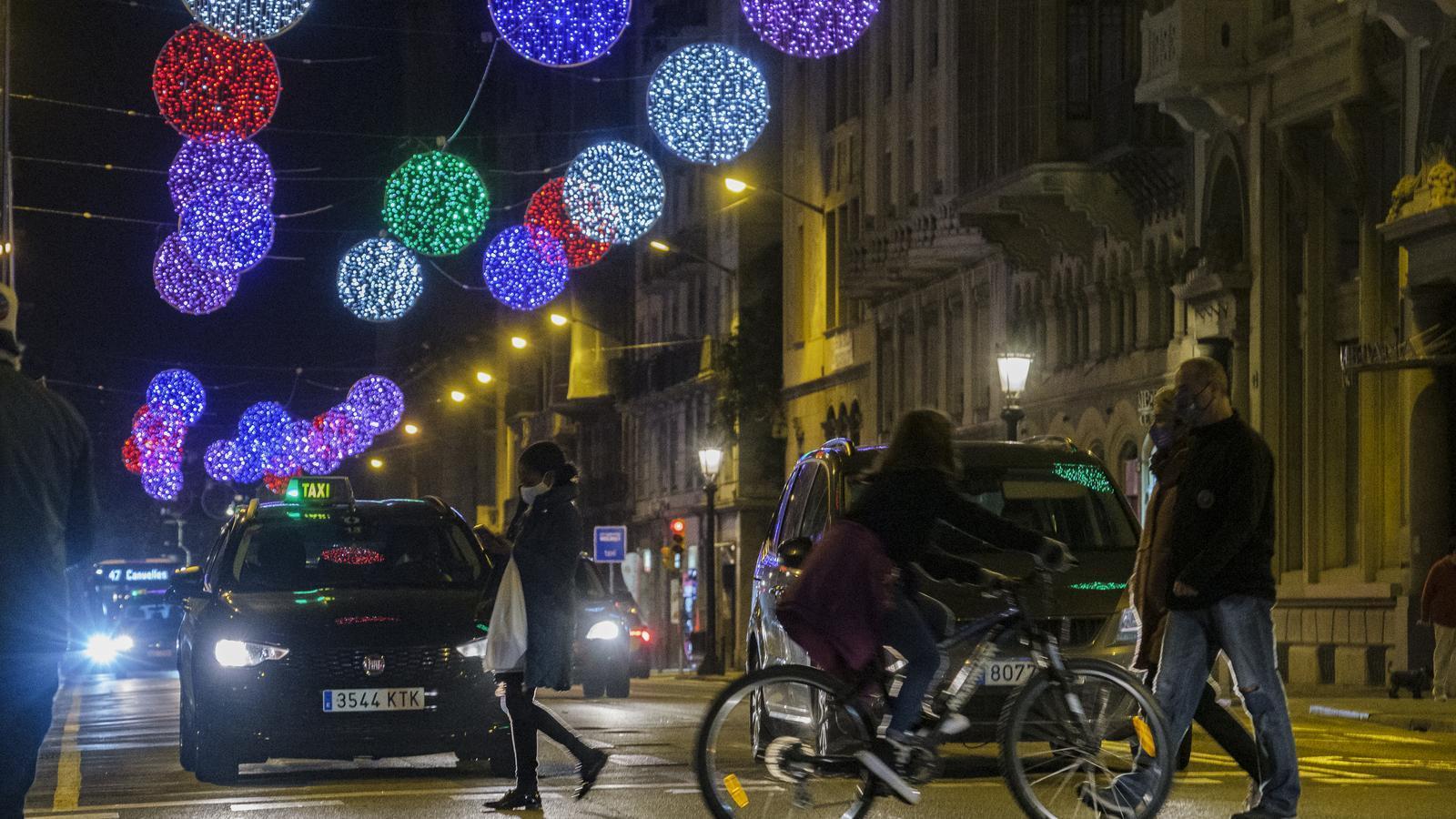 Encesa dels llums de Nadal a Barcelona