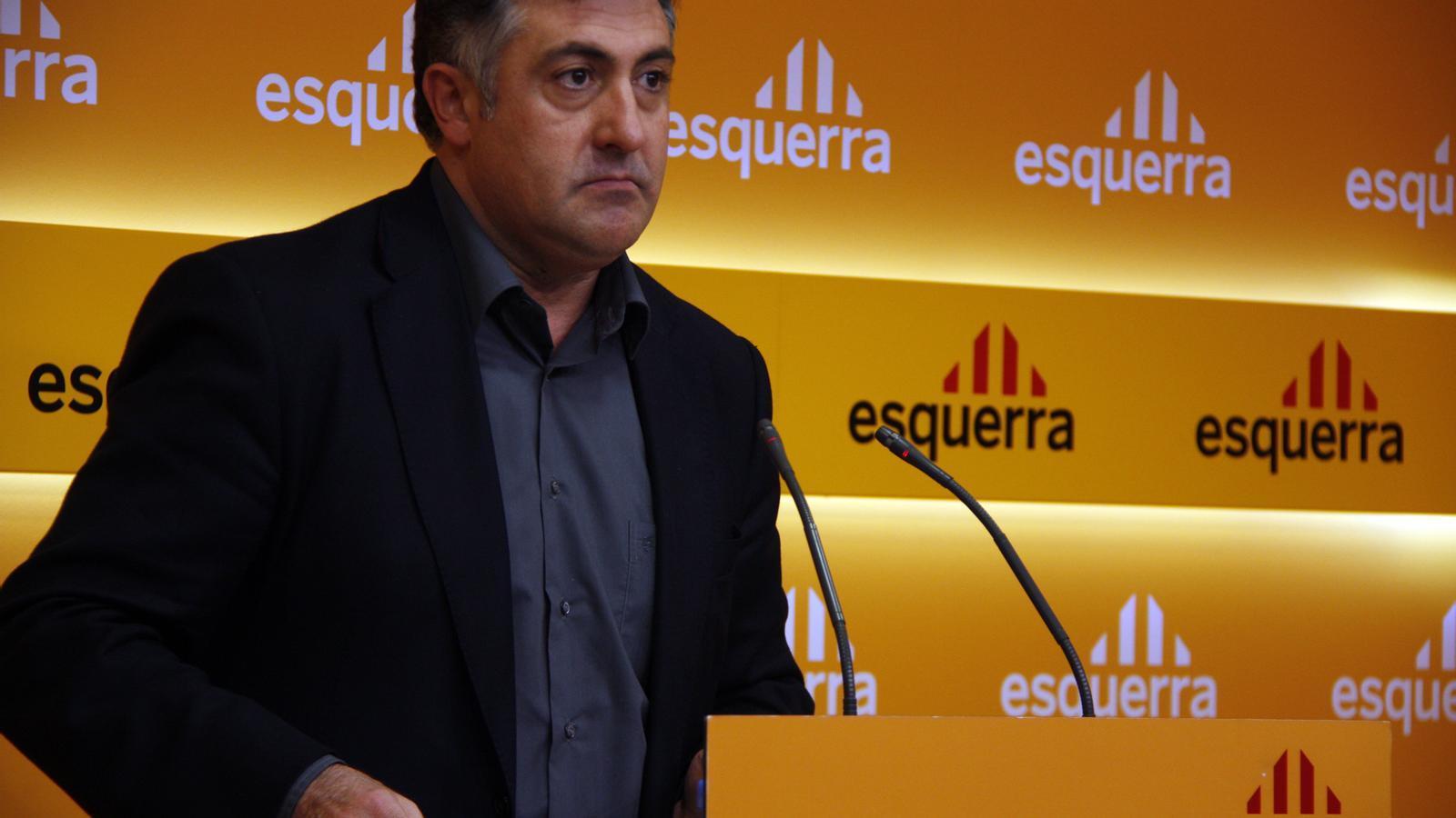 Puigcercós, l'endemà de les eleccions del 28-N. Foto: ACN