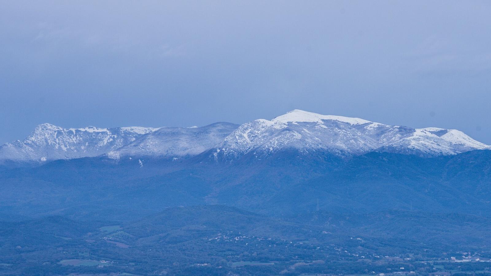 El Montseny queda enfarinat per primer cop aquesta tardor
