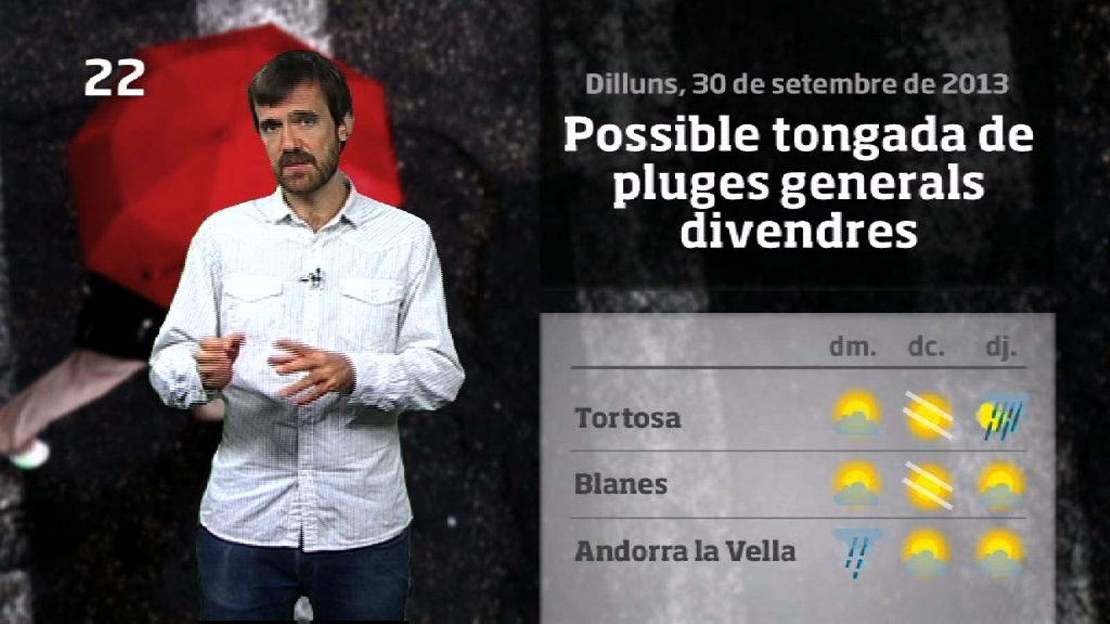 La méteo en 1 minut: poc fred i pluges a la vista (01/10/2013)