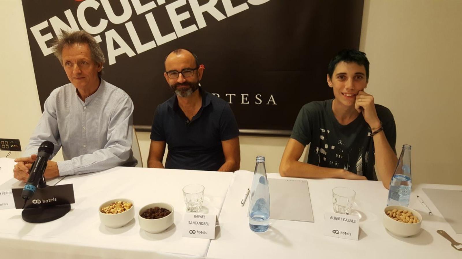 Guillem Ferrer, Jaume Santandreu i Albert Casal