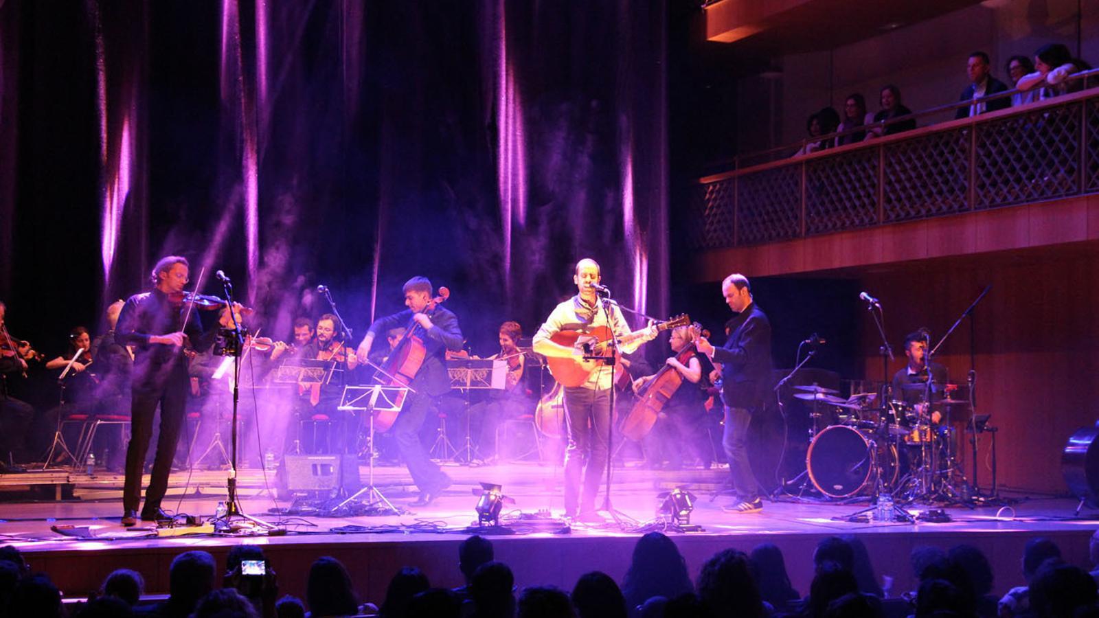 El concert de l'ONCA i Blaumut a Ordino. / M. F. (ANA)