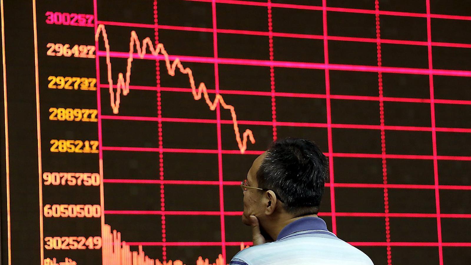REACCIÓ CRUEL   La caiguda de la borsa xinesa, més forta que quan va esclatar la bombolla de les puntcom   Als EUA.