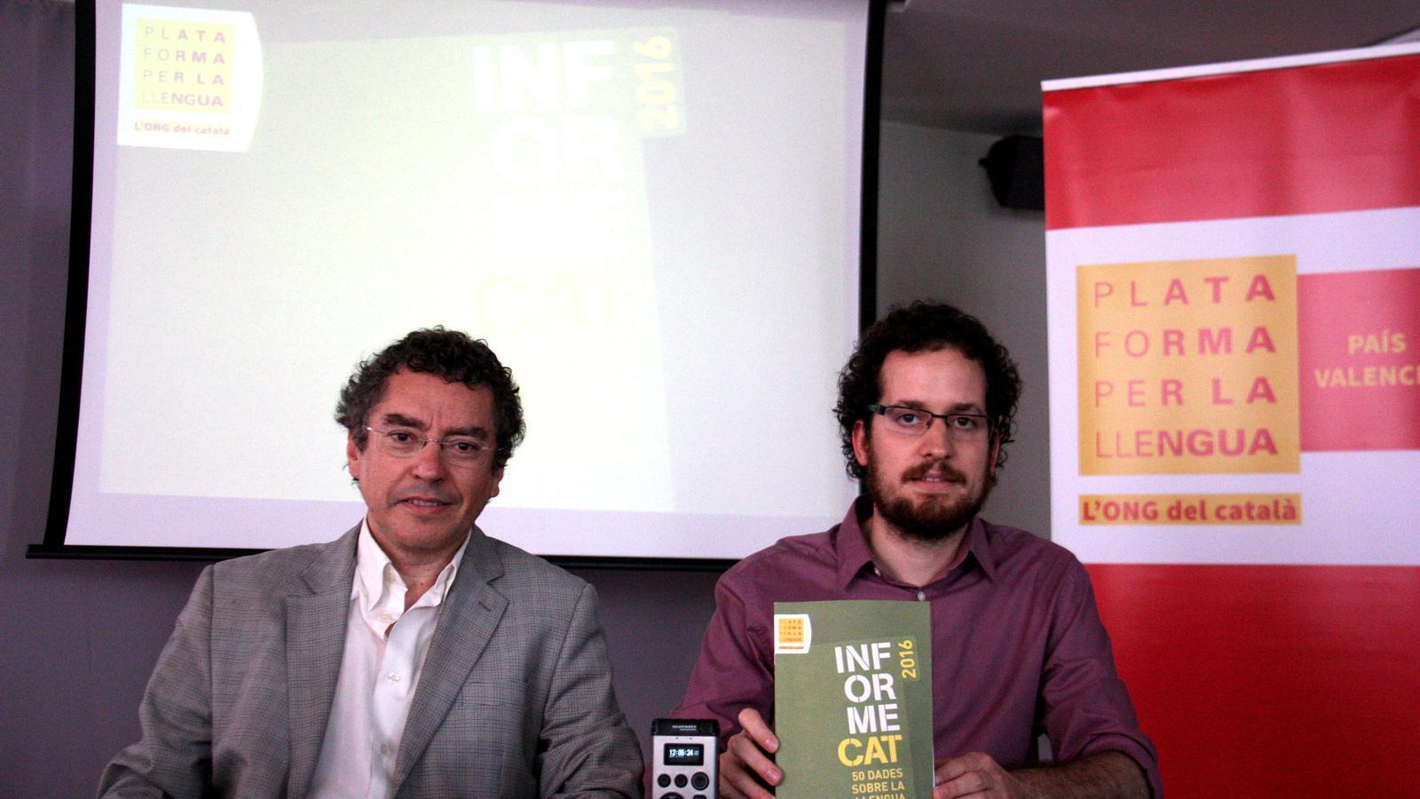 La Plataforma per la Llengua repartirà un miler d'agendes en valencià entre l'alumnat del Baix Segura i el Vinalopó Mitjà