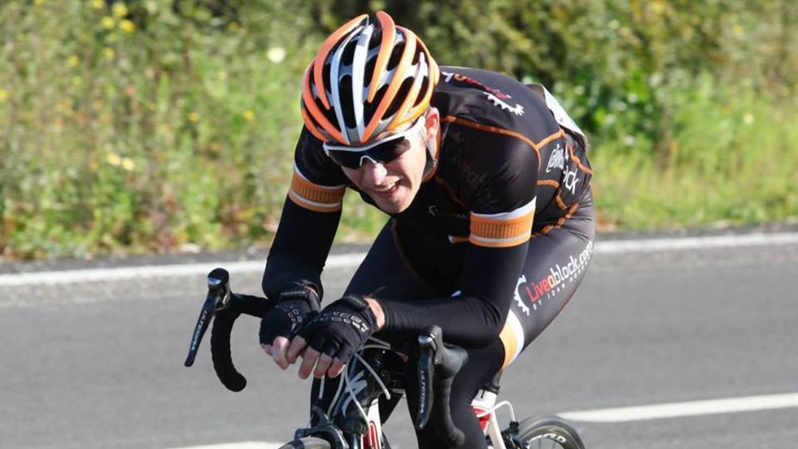 Sebastià Vila durant la competició d'una cursa