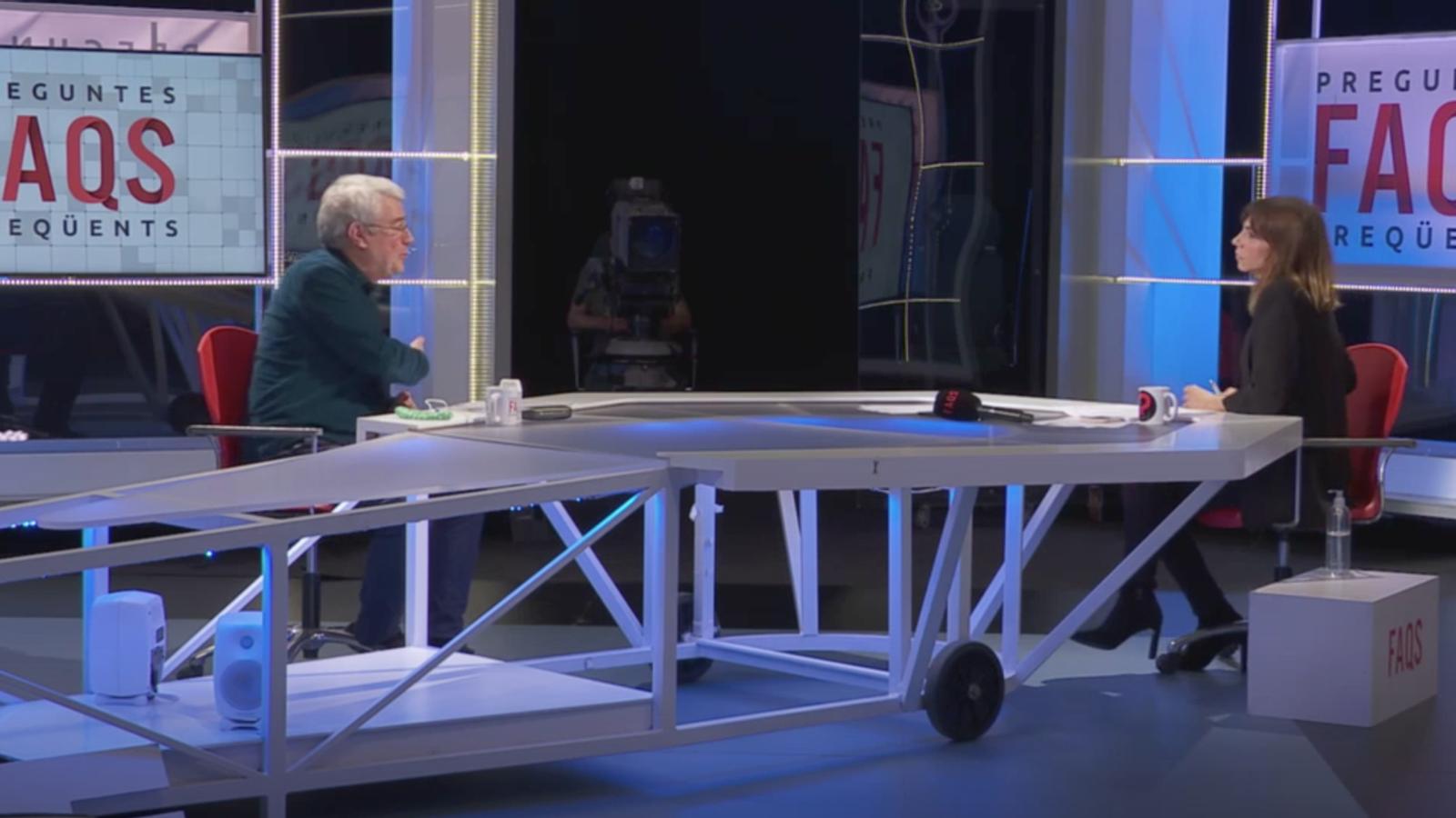 Jim Roldàn durant l'entrevista a TV3. / ARA ANDORRA