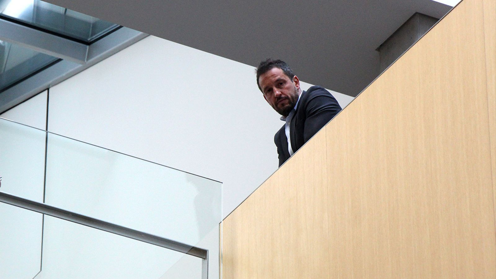 Pere López durant una pausa de la reunió matinguda divendres passat. / M. M.