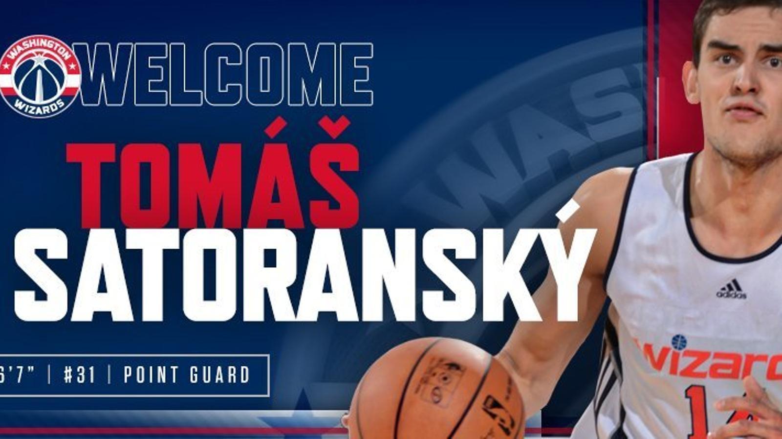 Els Wizards oficialitzen l'arribada de Tomas Satoransky