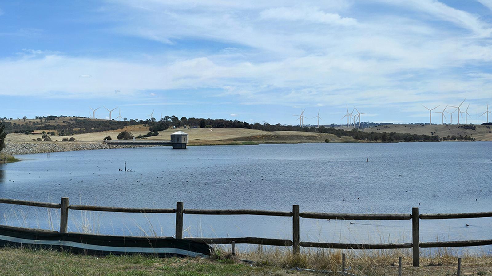 Recreació de com serà el primer parc eòlic de Gas Natural a Austràlia.