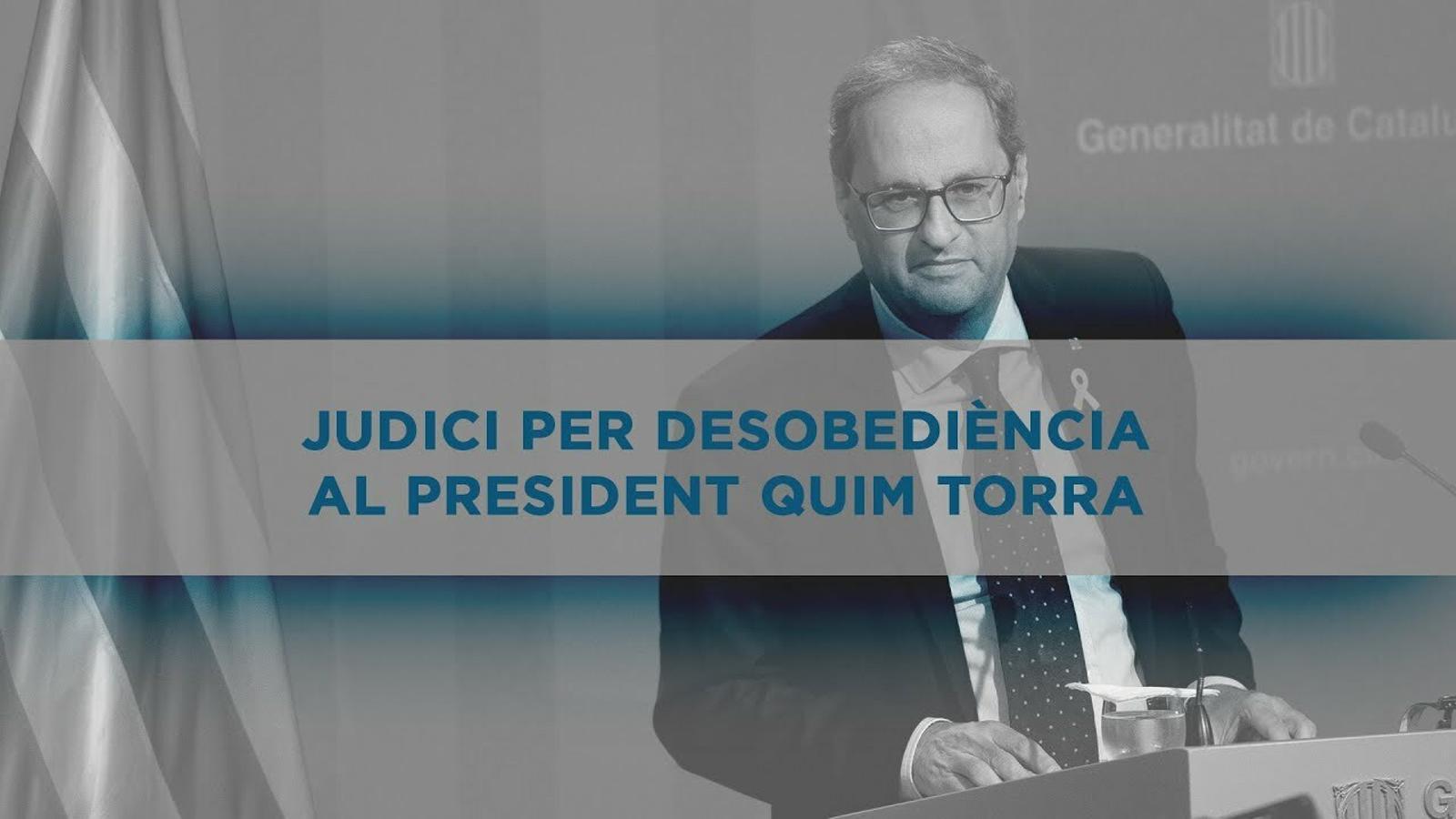 Judici per desobediència al president Quim Torra (sessió tarda)