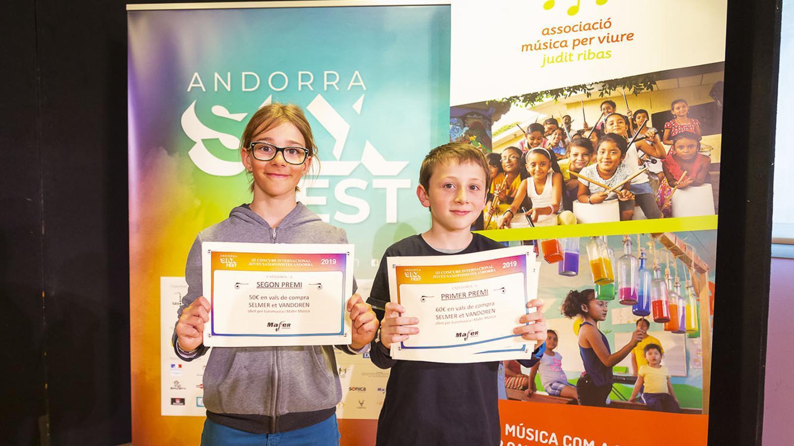Els guanyadors de la categoria A. / ANDORRA SAX FEST