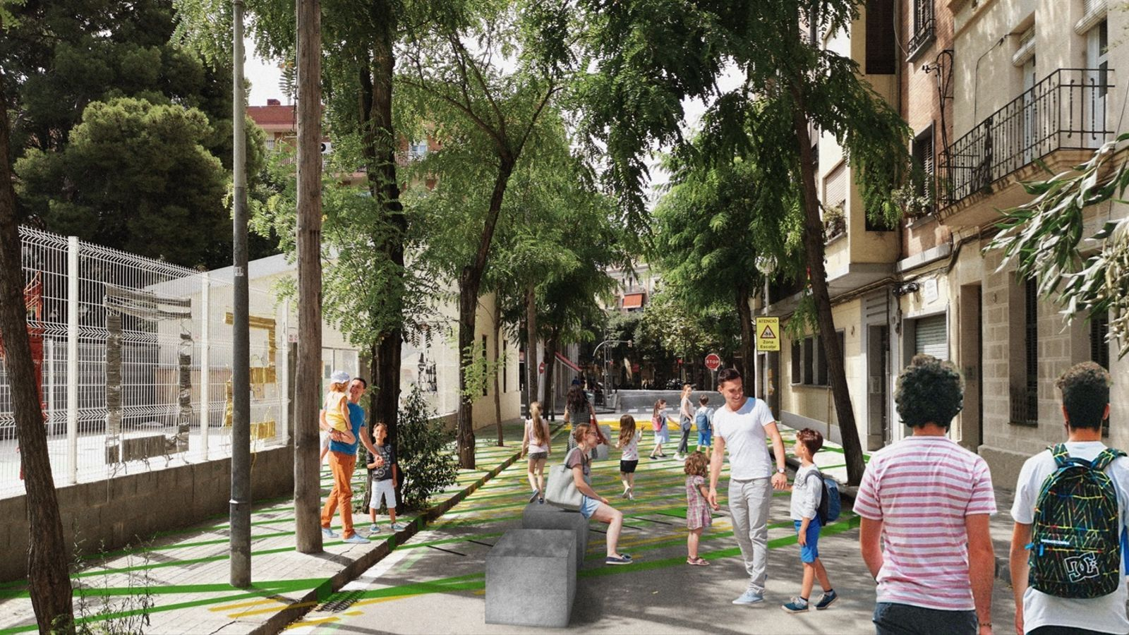 Barcelona protegirà del trànsit una vintena d'escoles aquest any