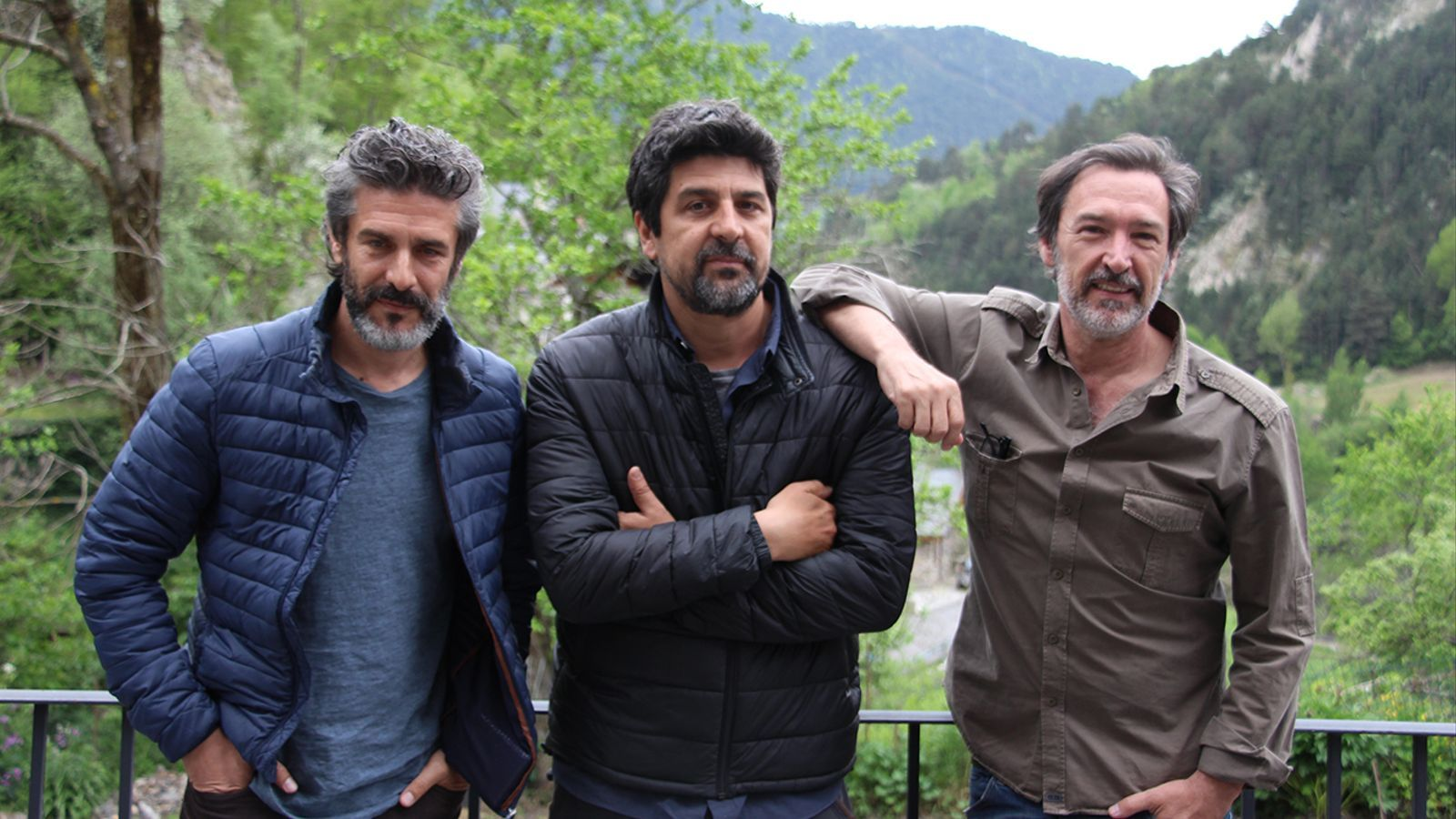 L'actor Leonardo Sbaraglia, el director, Cesc Gay, i l'actor, Ginés Martín . / J.R.