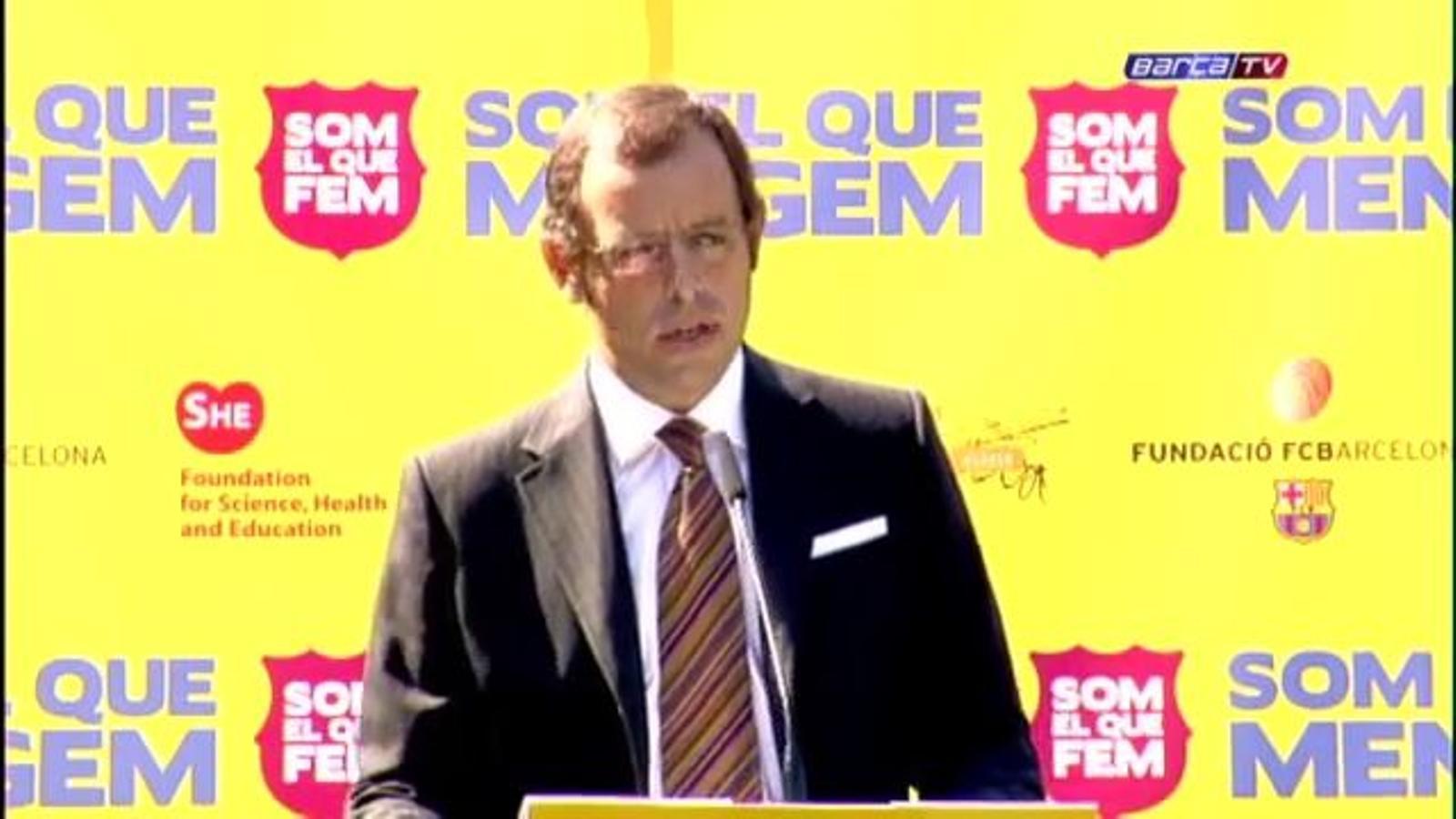 El Barça presenta la campanya Som el que mengem
