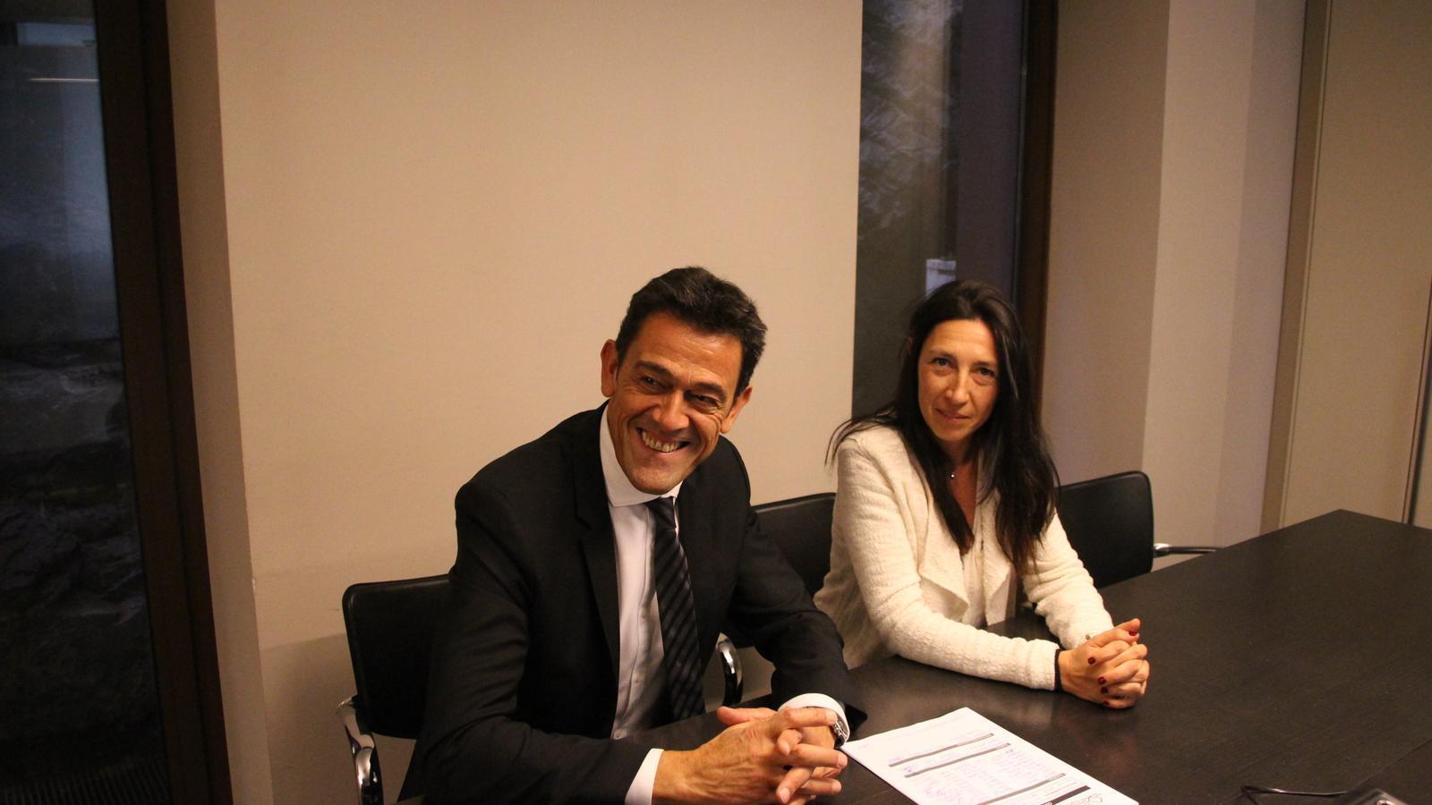 Josep Àngel Mortes i Eva Choy, líders d'En Comú per Ordino.