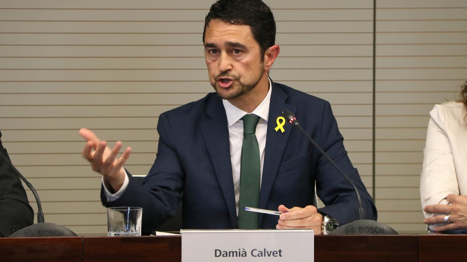 Calvet es mostra a «disposició» de JxCat per ser el candidat a la Generalitat