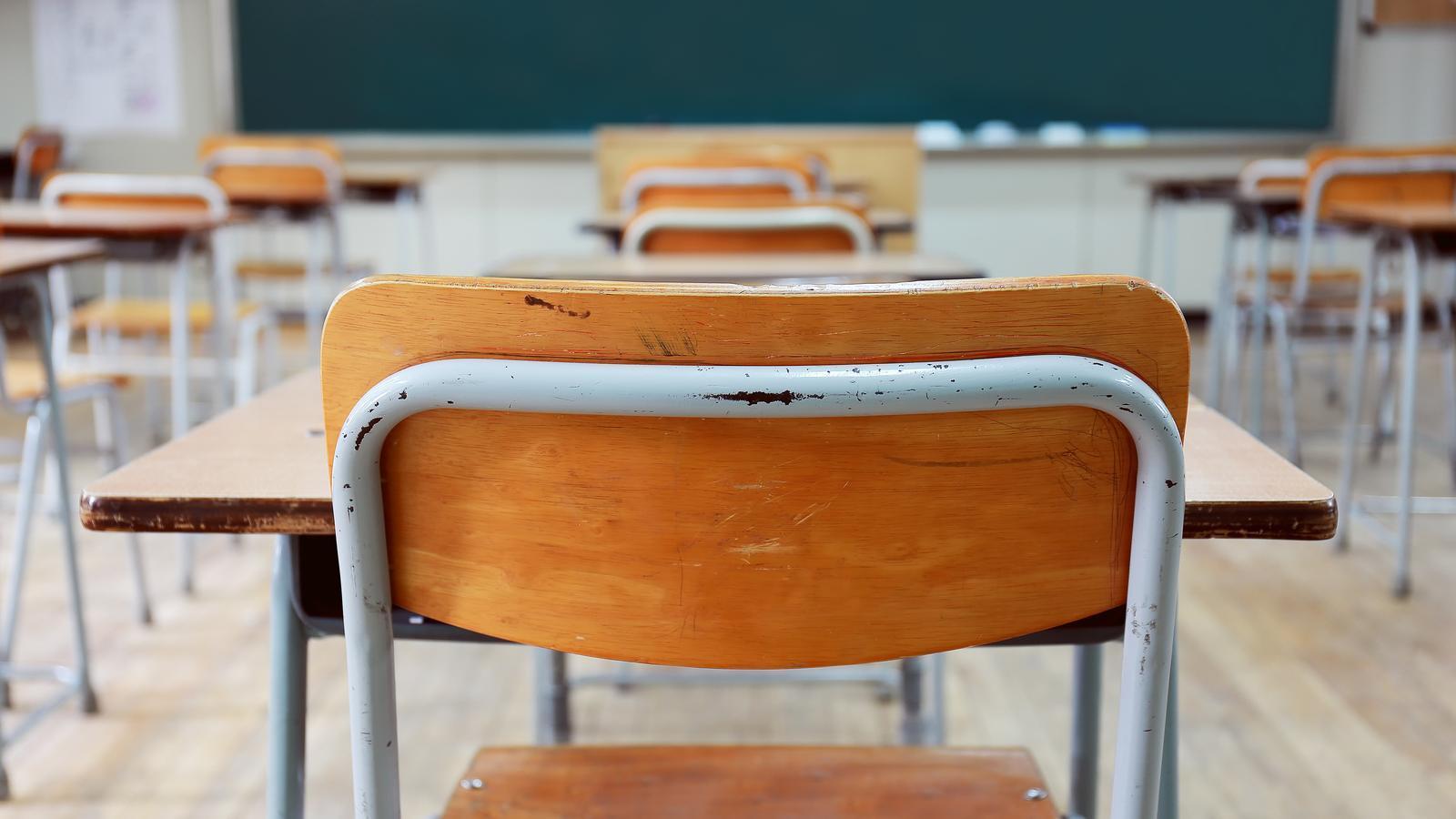 Imatge de recurs d'una aula d'institut